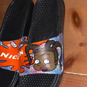 Nike Shoes - Custom made Nike (Nickelodeon Rugrats) slides
